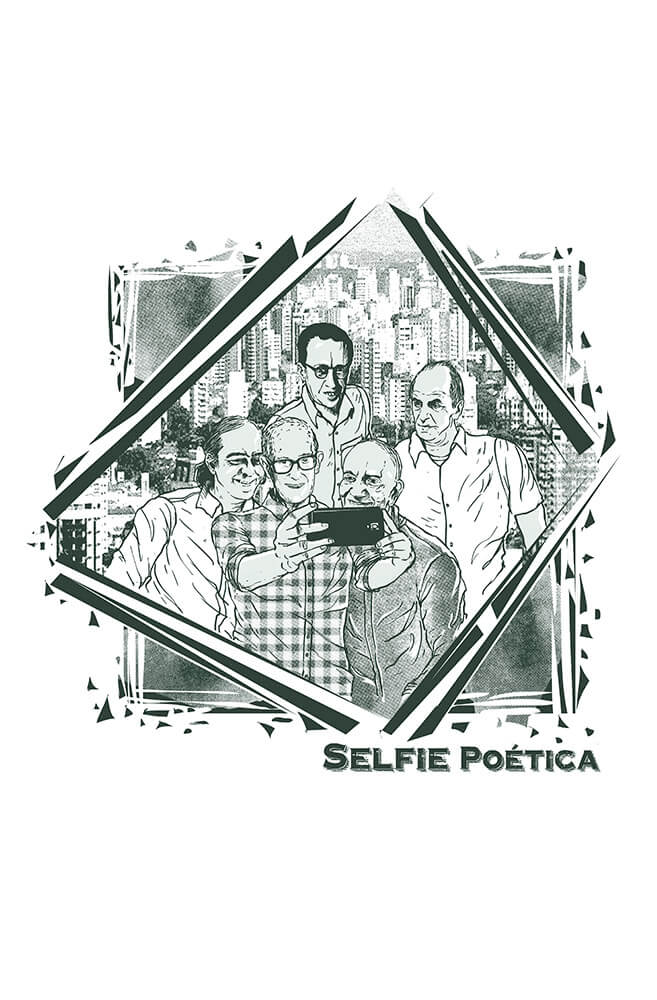 Camiseta Branca Selfie Poética