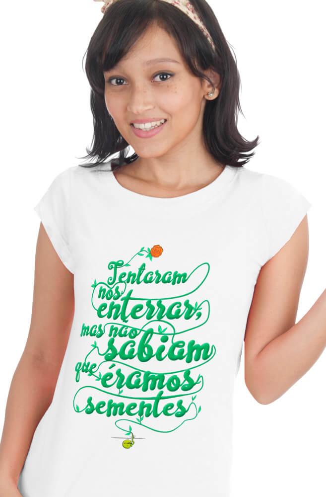 Camiseta Branca Semente