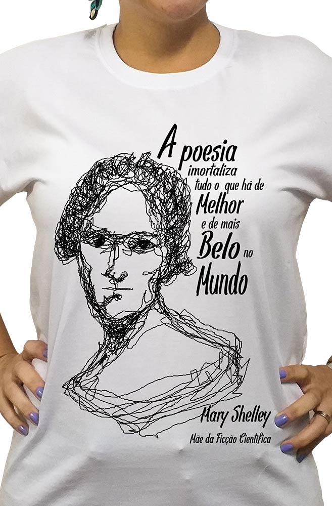 Camiseta Branca Shelley, Mãe da Ficção Científica