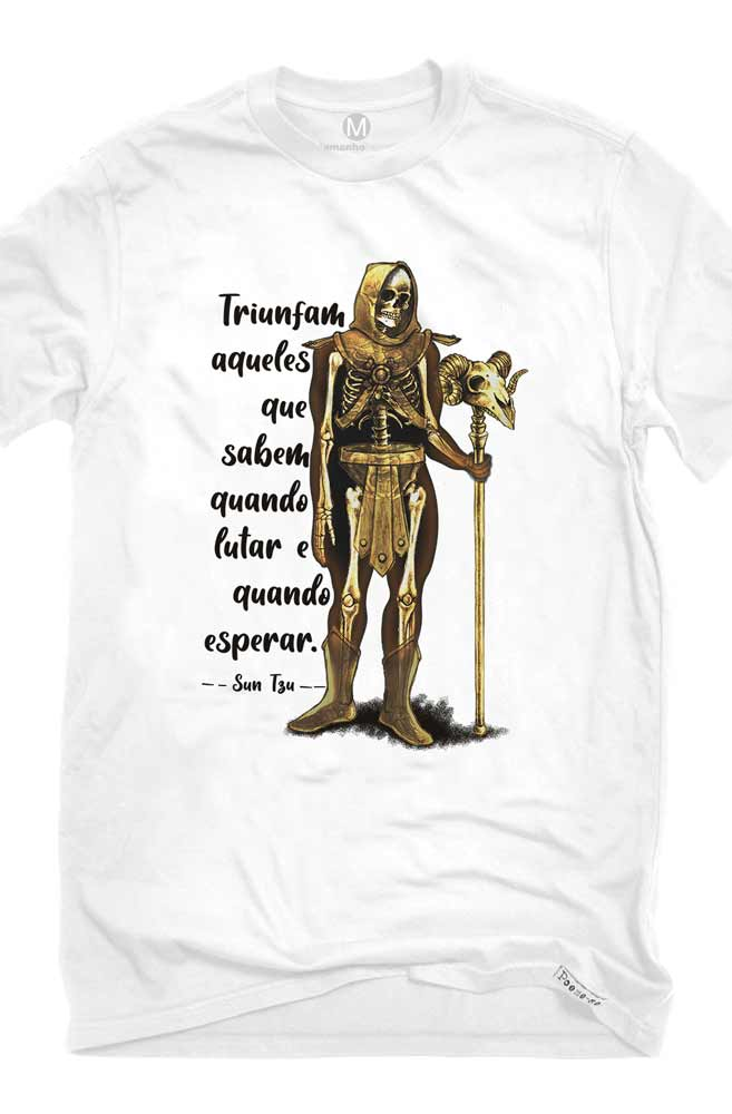 Camiseta Branca Sun Tzu