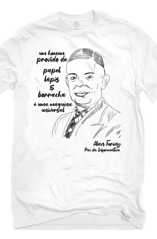 Camiseta Branca Turing, pai da informática