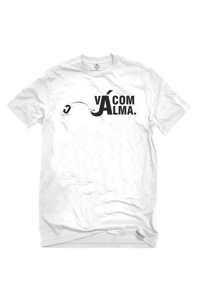 Camiseta Branca Vá com Alma