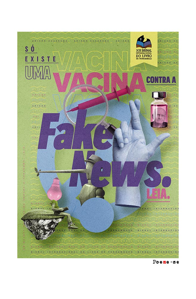 Camiseta Branca Vacina contra Fake News