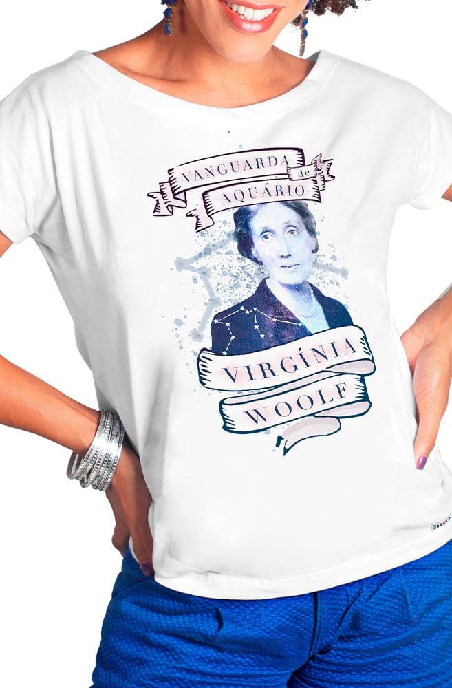 Camiseta Branca Virginia Woolf: A Vanguarda de Aquário
