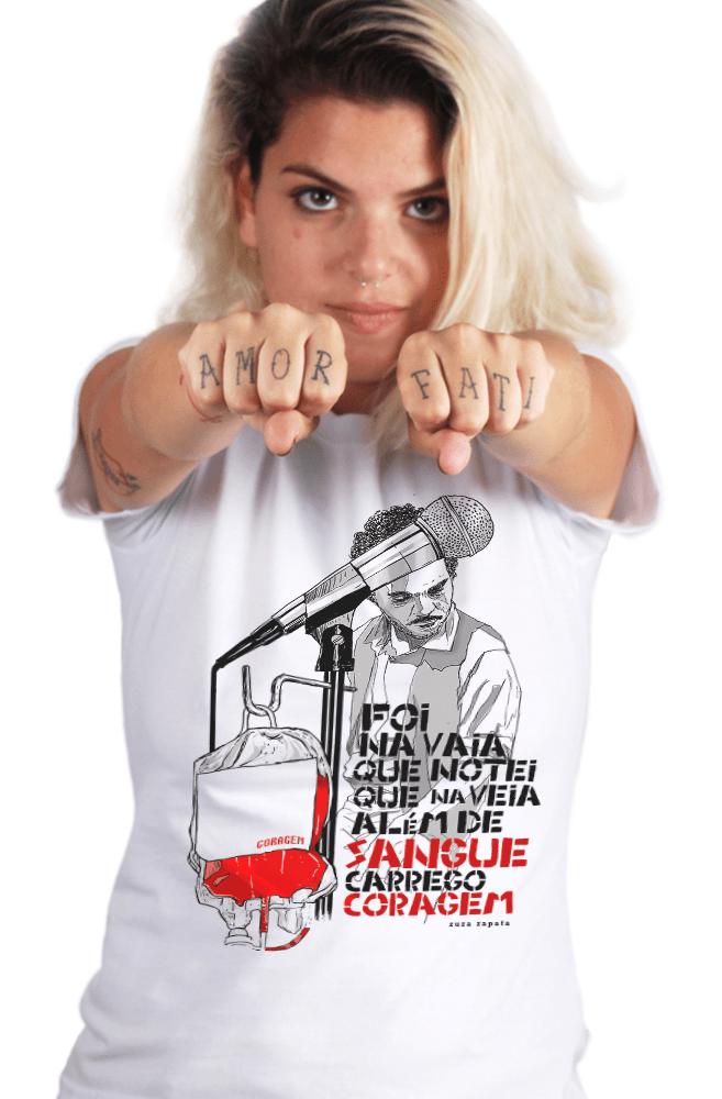 Camiseta Branca Zuza Zapata
