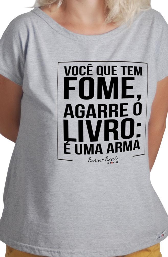 Camiseta Cinza Agarre o Livro