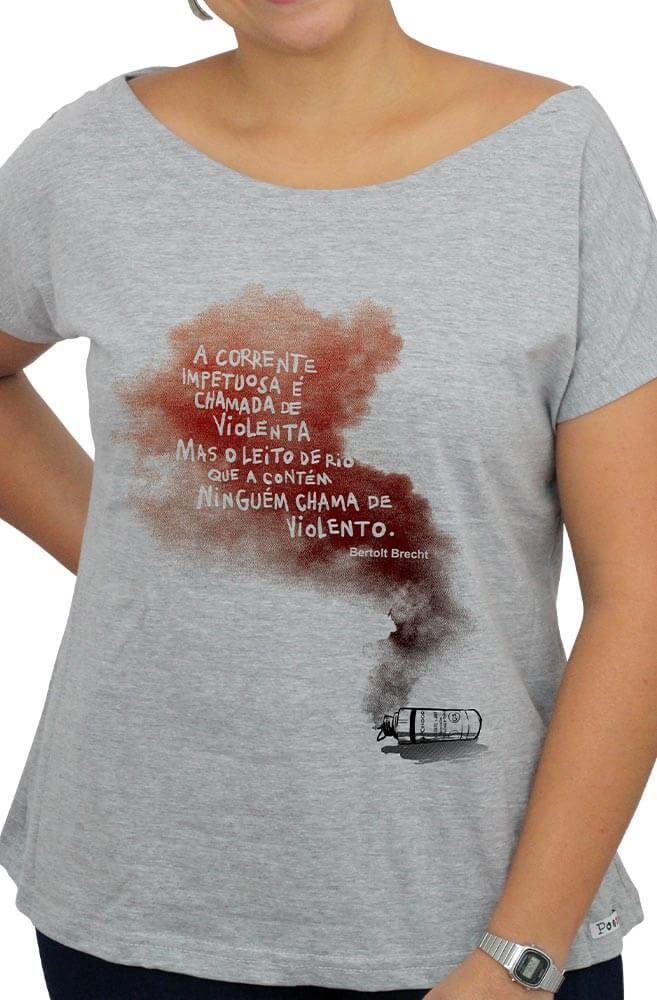 Camiseta Cinza Bertolt Brecht