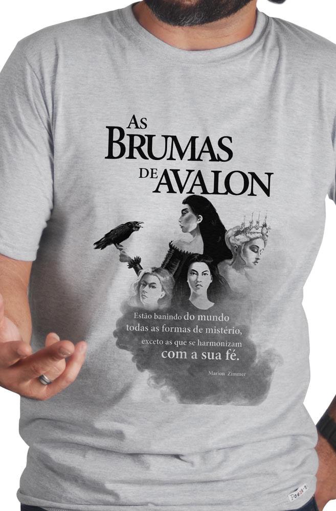 Camiseta Cinza Brumas de Avalon