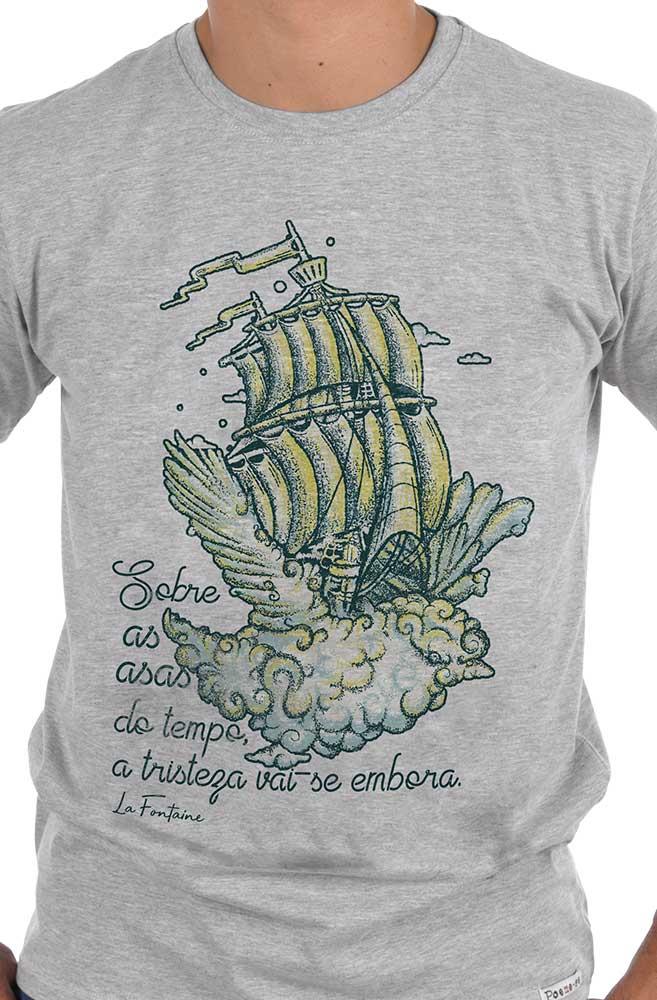 Camiseta Cinza Bye Bye Tristeza