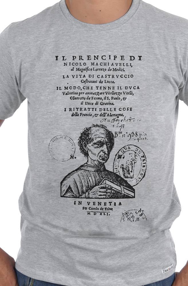Camiseta Cinza Capa de Livro O príncipe