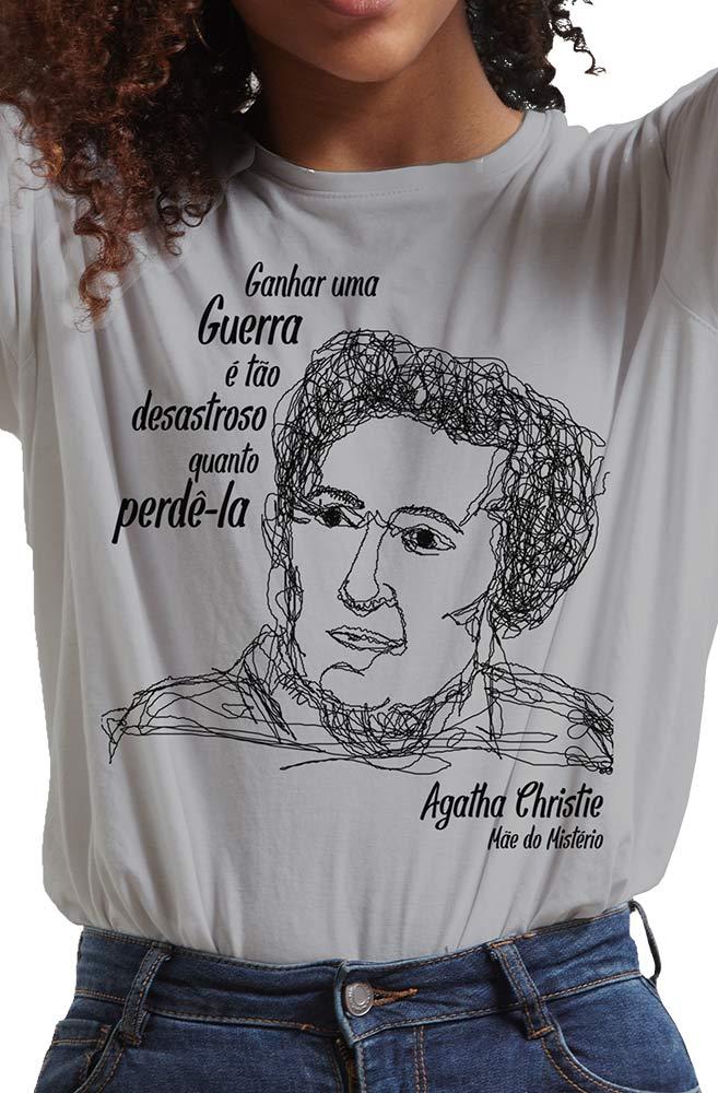 Camiseta Cinza Christie, Mãe do Mistério
