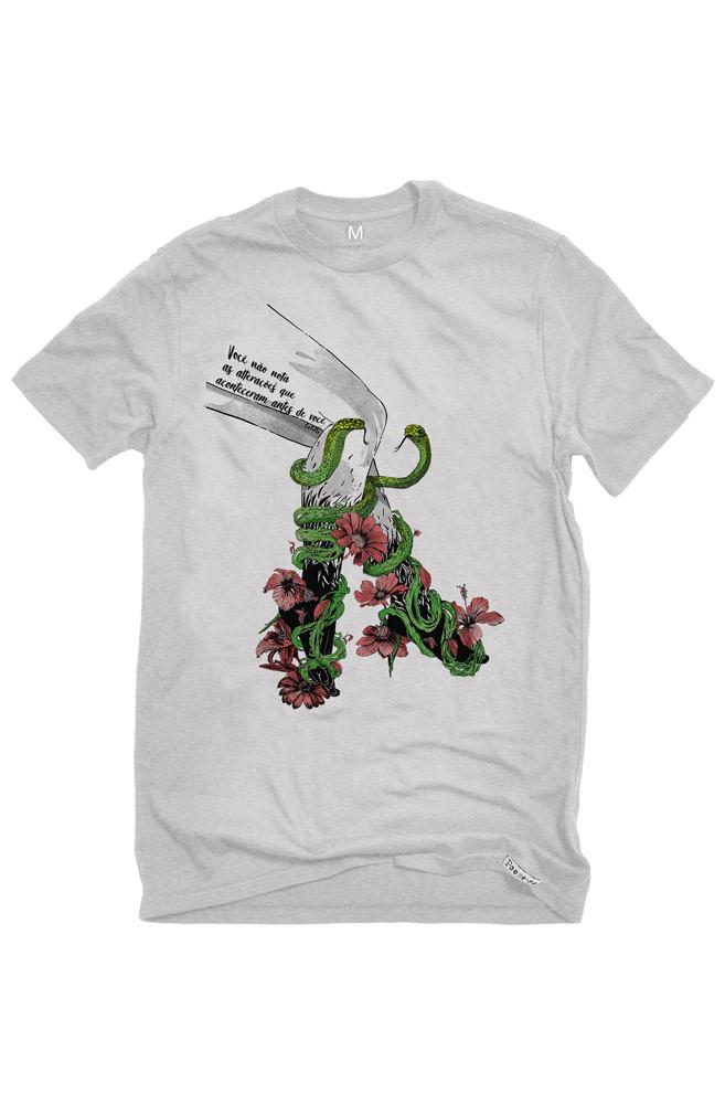 Camiseta Cinza Daqui para frente