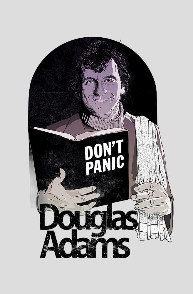 Camiseta Cinza Douglas Adams