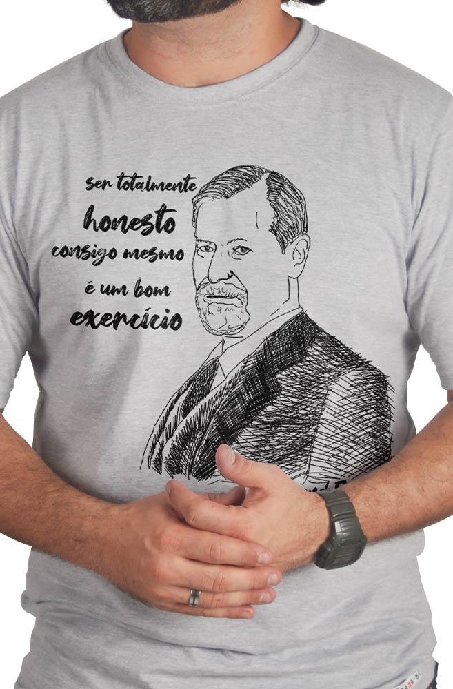 Camiseta Cinza Freud, pai da psicanálise