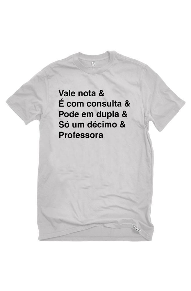Camiseta Cinza Helvética Professora