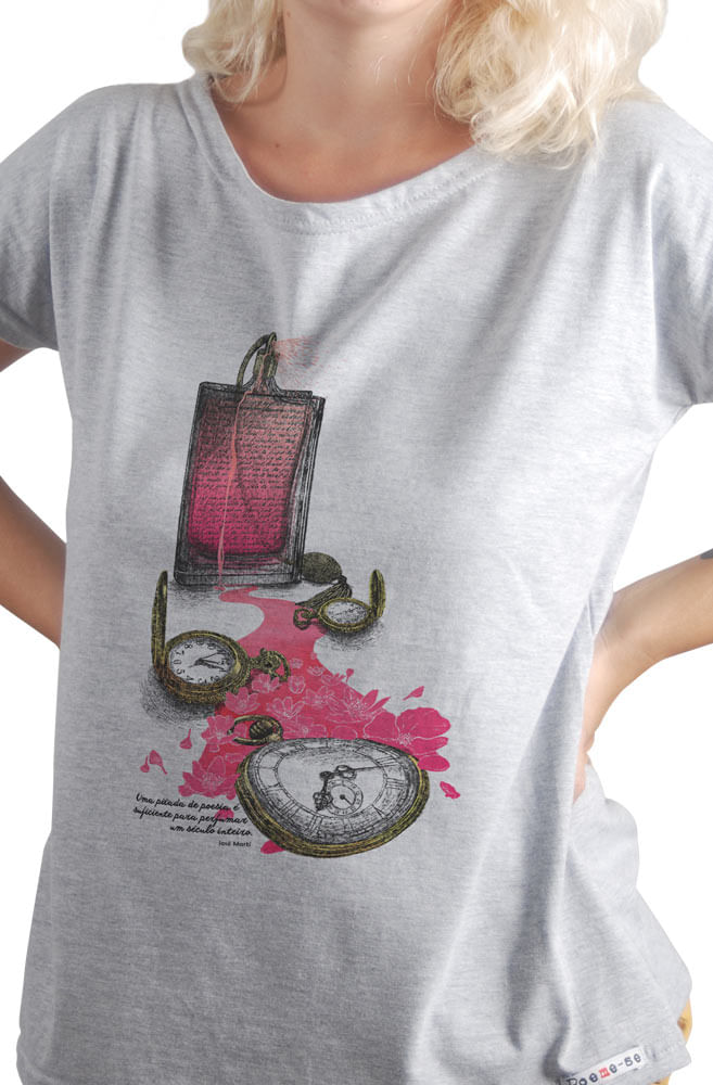 Camiseta Cinza José Martí