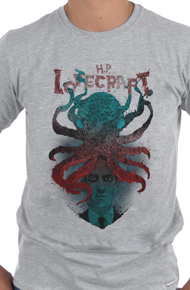 Camiseta Cinza Lovecraft