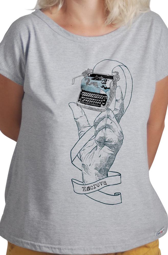 Camiseta Cinza Máquina de Poemas