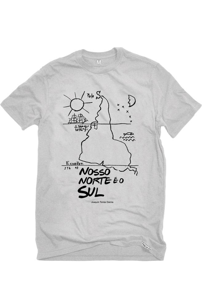 Camiseta Cinza Nosso Norte é o Sul