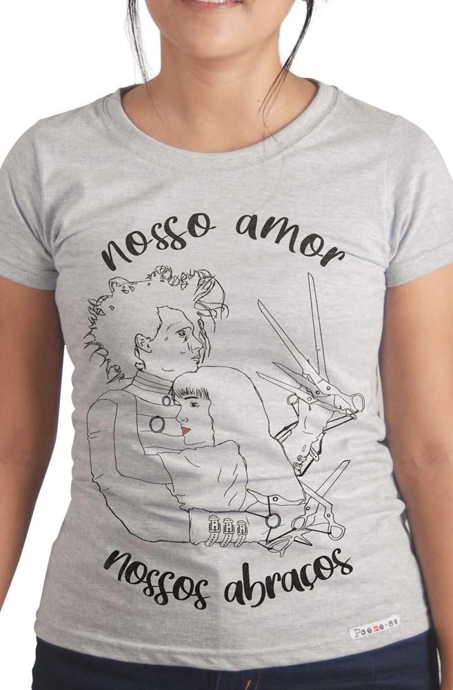 Camiseta Cinza Nossos abraços