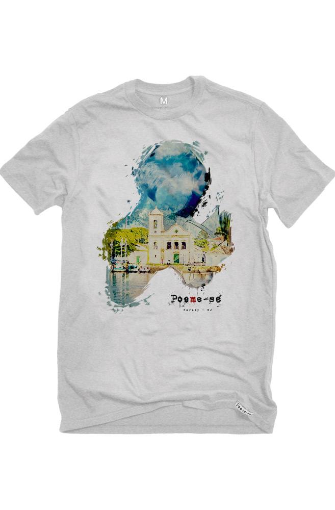 Camiseta Cinza Paraty Cidade Literária