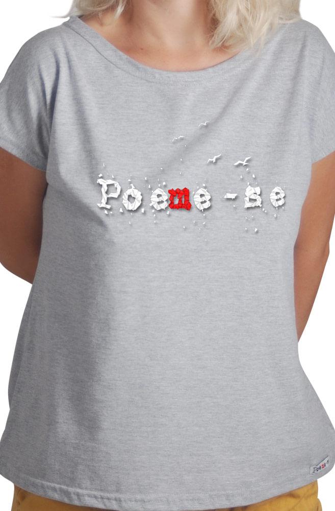 Camiseta Cinza Poeme-se Origami