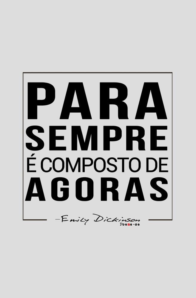 Camiseta Cinza Pra Sempre