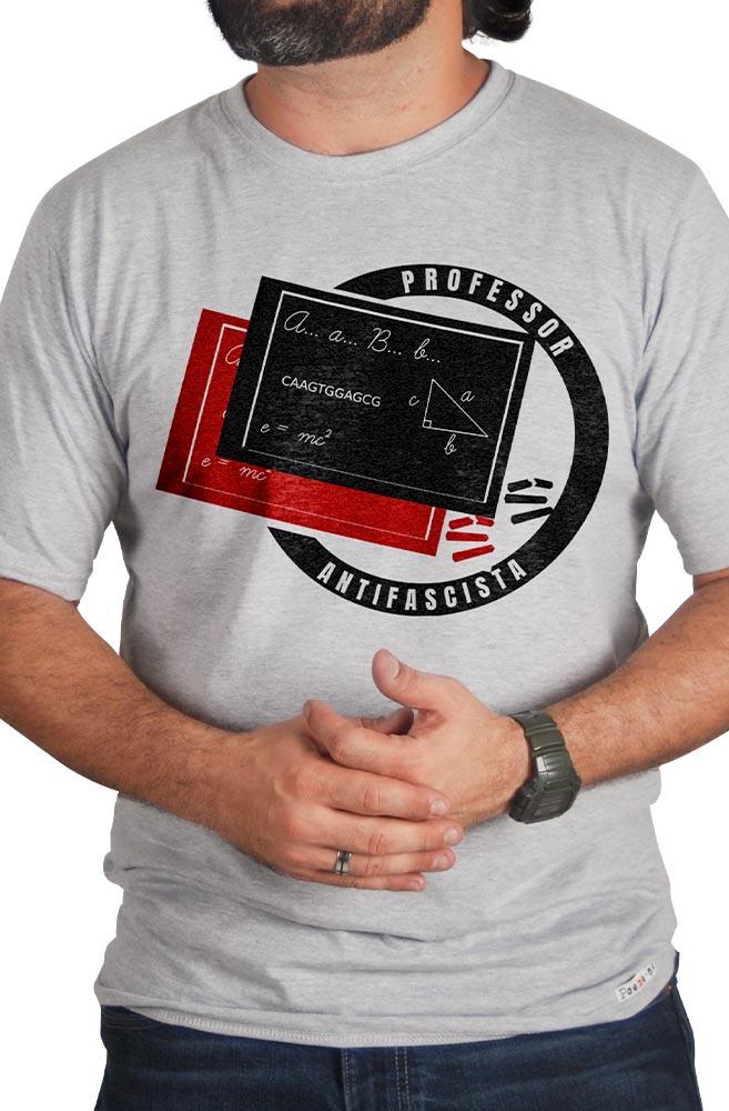 Camiseta Cinza Professor Antifascista