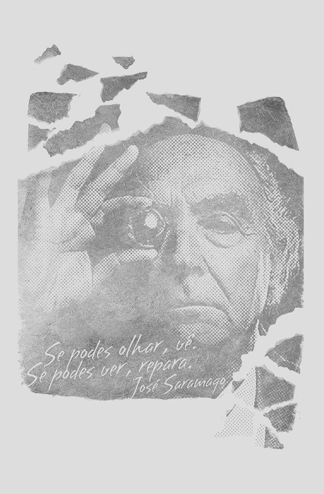 Camiseta Cinza Saramago
