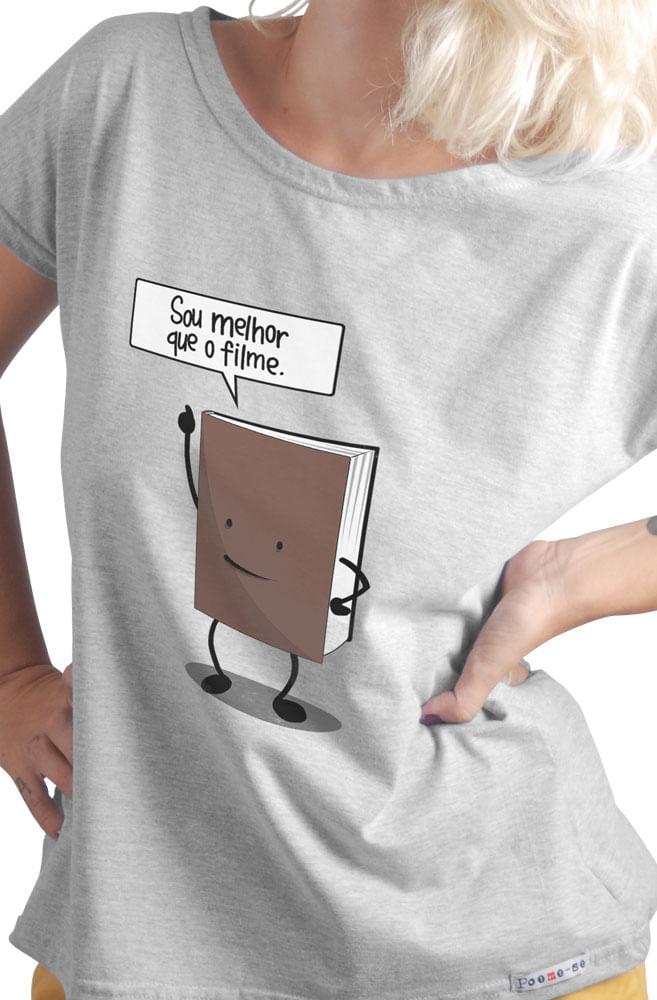 Camiseta Cinza Sou melhor que filme