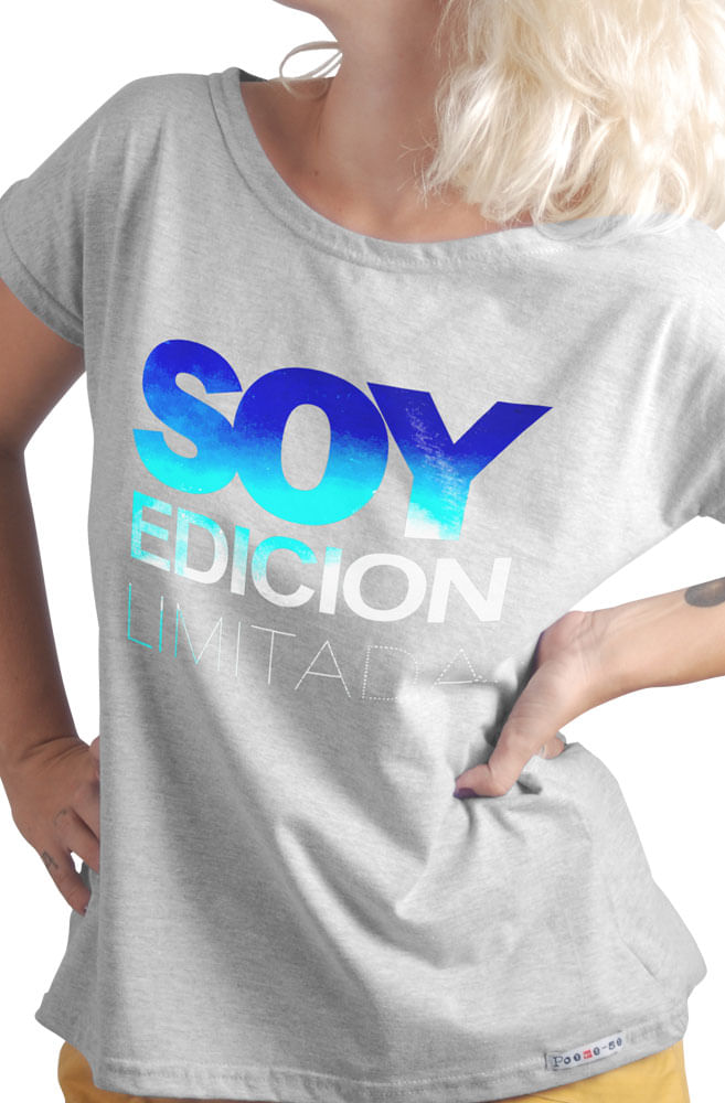 Camiseta Cinza Soy Edição Limitada