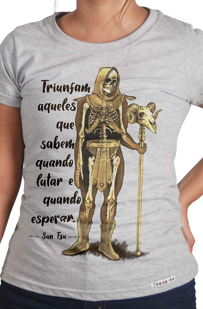 Camiseta Cinza Sun Tzu