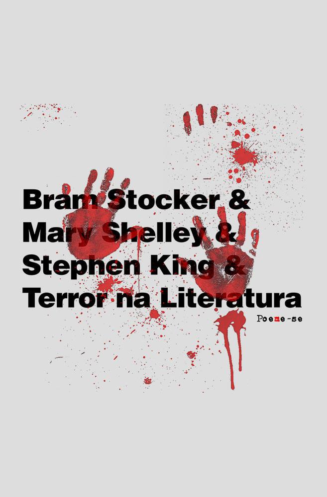Camiseta Cinza Terror na Literatura