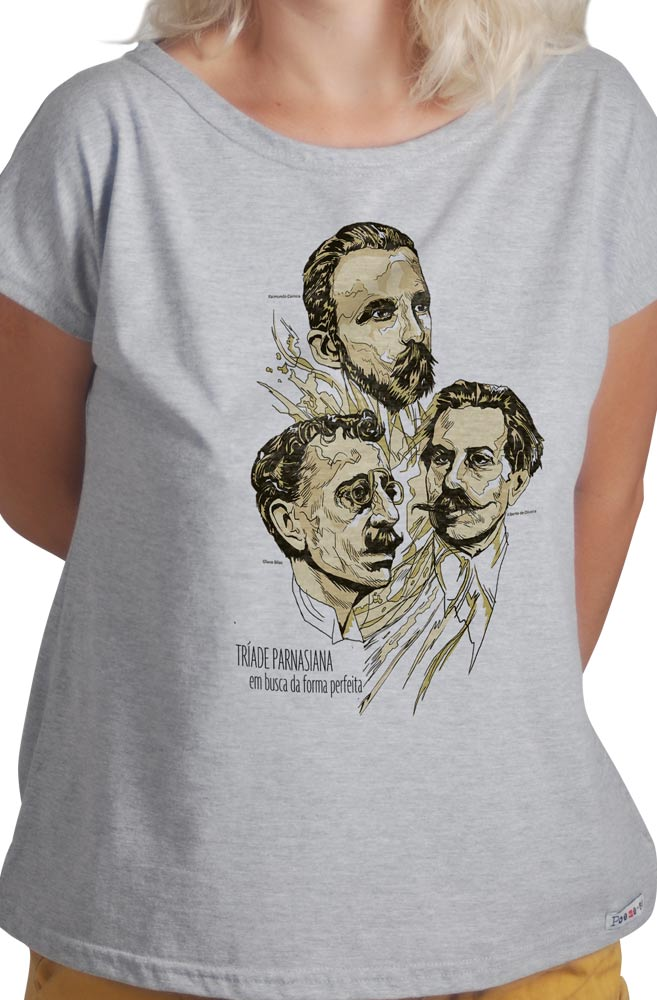 Camiseta Cinza Tríade Parnasiana