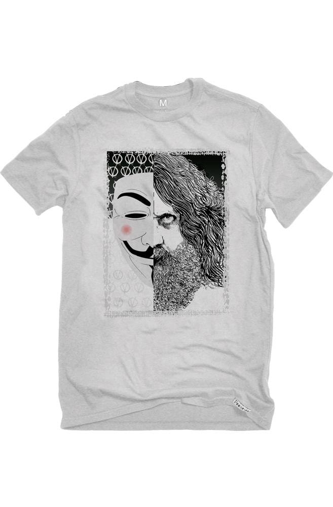 Camiseta Cinza V de Alan Moore