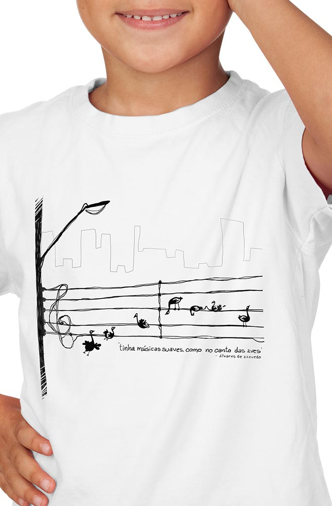 Camiseta Infantil Álvares de Azevedo