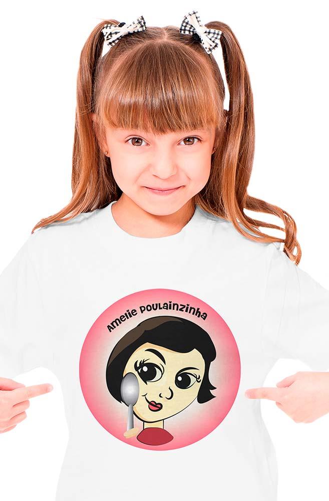 Camiseta Infantil Amélie Poulanzinha