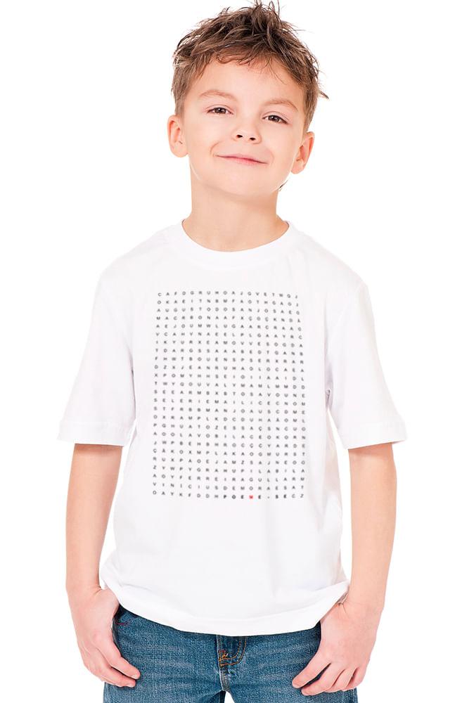Camiseta Infantil Branca Caça Poetas