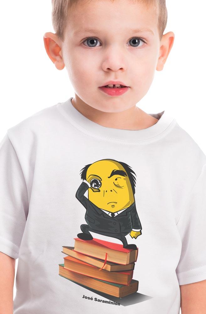 Camiseta Infantil Branca José Saraminion