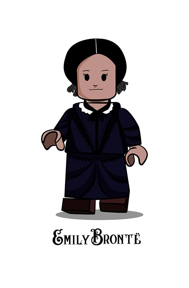 Camiseta Infantil Branca Lego Emily Bronte