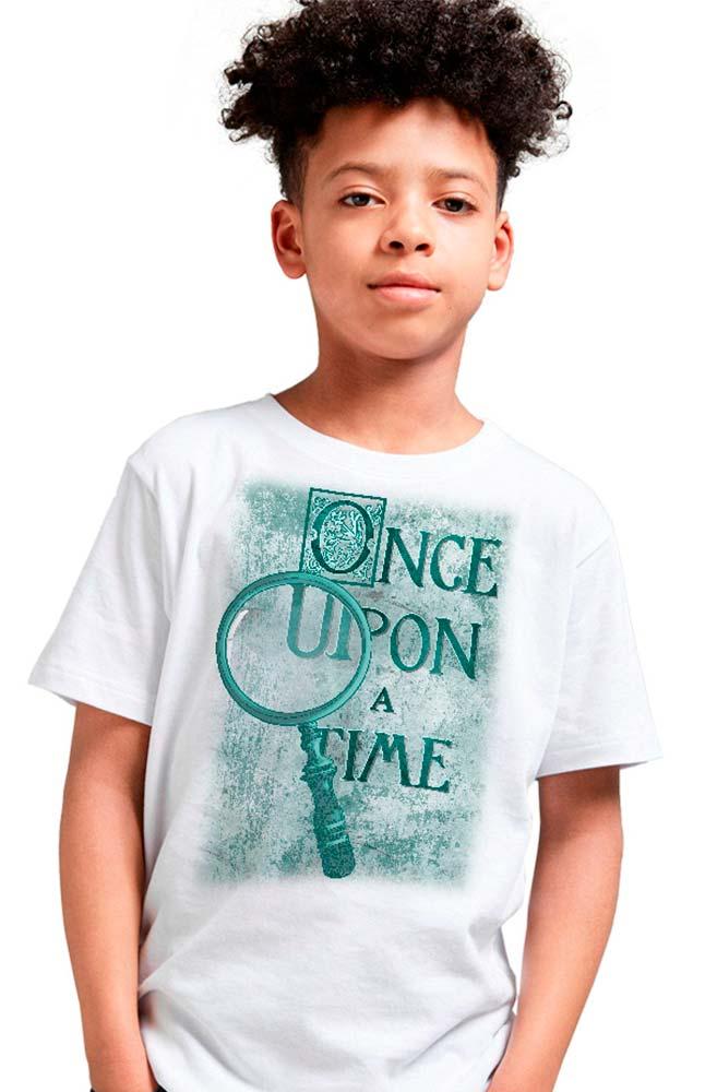 Camiseta Infantil Branca Once upon a time