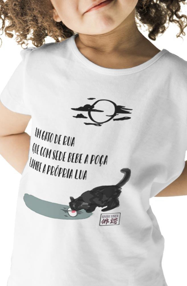 Camiseta Infantil Branca Sumi-ê: Castro Lisboa