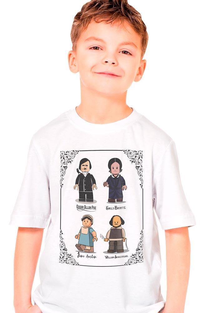 Camiseta Infantil Branco Lego Escritores