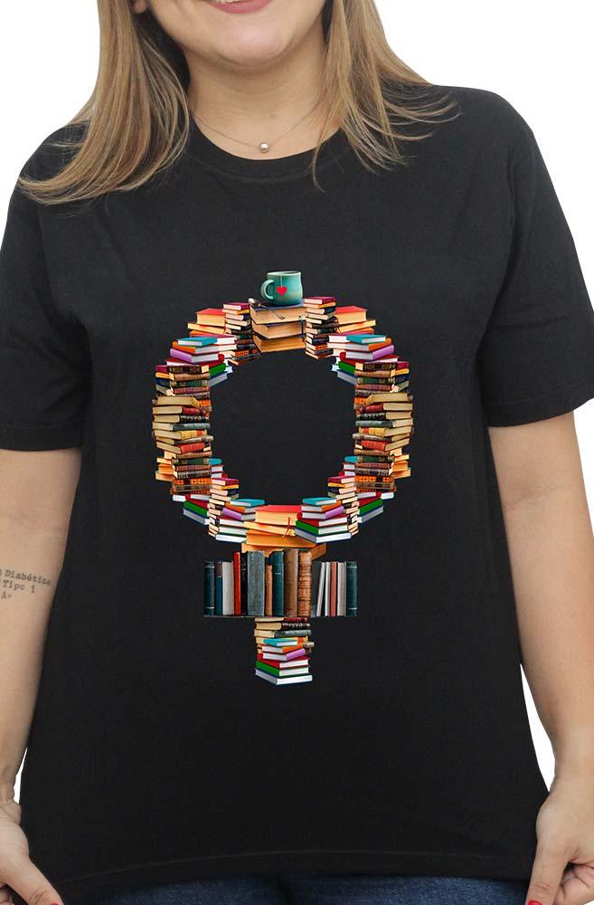 Camiseta Preta Feminismo Literário