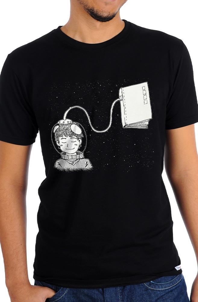 Camiseta Preta Livro Meu Oxigênio