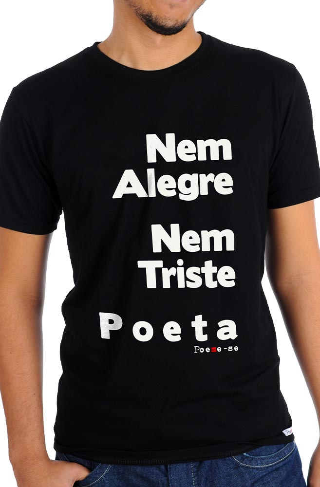 Camiseta Preta Poeta