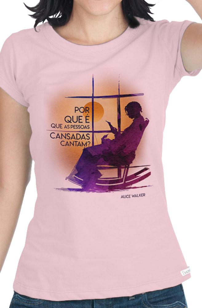 Camiseta Rosa A Cor Purpura