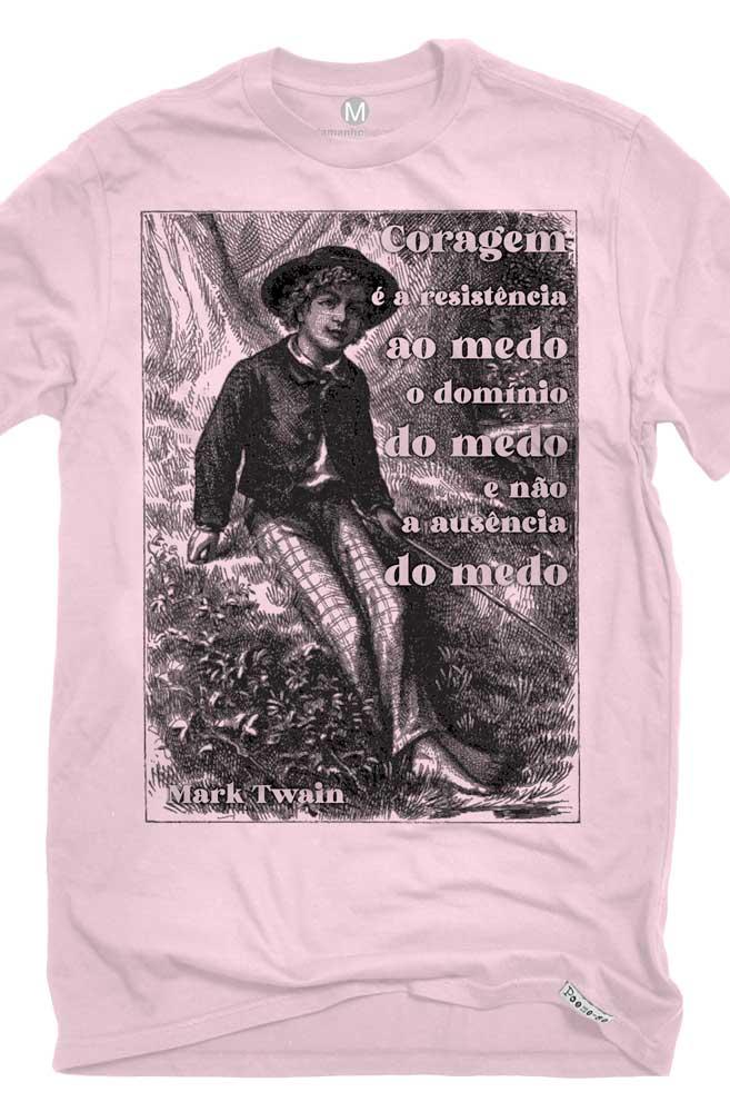Camiseta Rosa A Coragem de Mark Twain