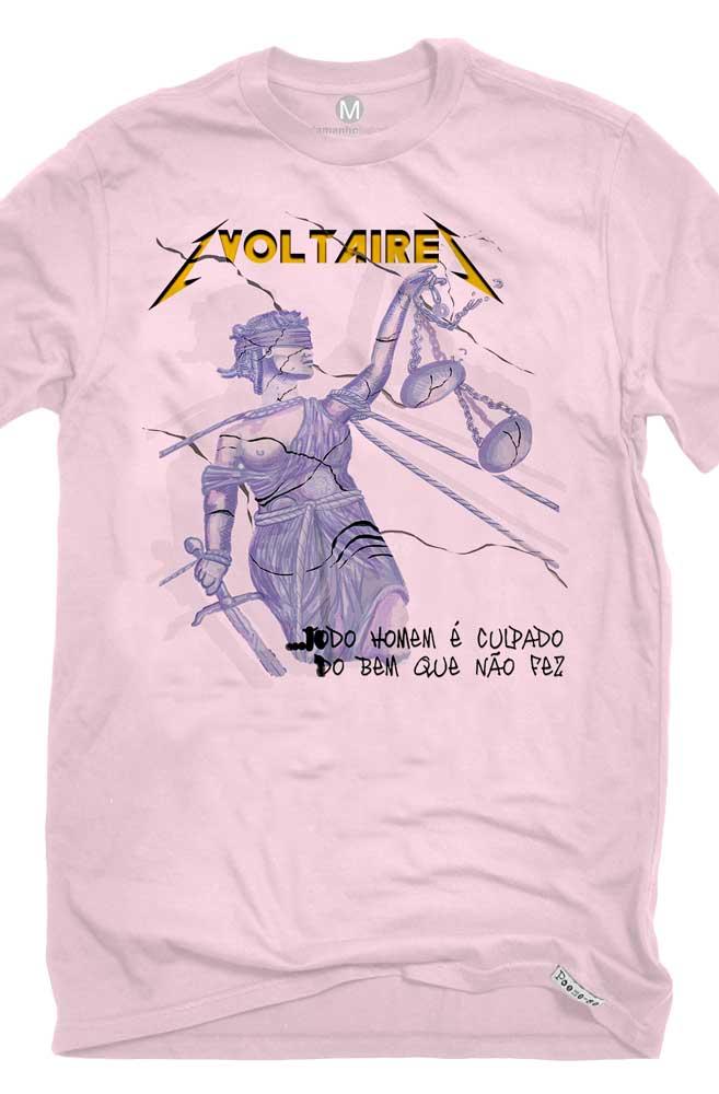 Camiseta Rosa A Culpa de Voltaire