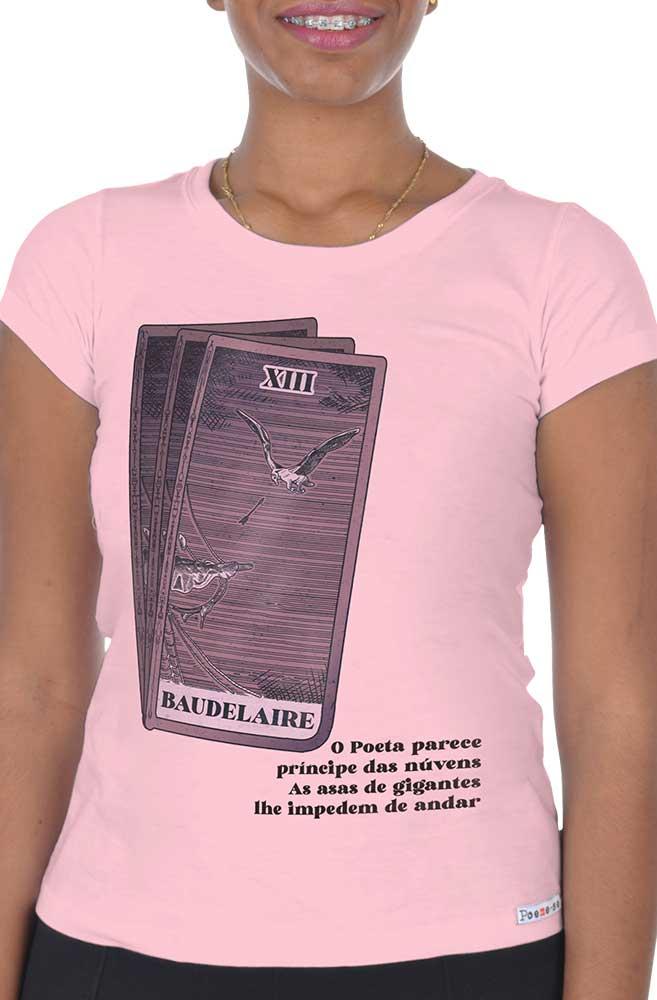 Camiseta Rosa As asas de Baudelaire